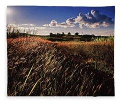 The Last Grassy Field, Trinidad Fleece Blanket
