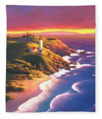 The Light House  Fleece Blanket