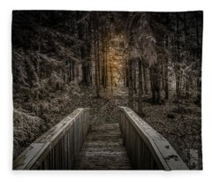 The Light In The Woods Fleece Blanket