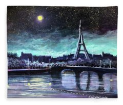 The Lights Of Paris Fleece Blanket
