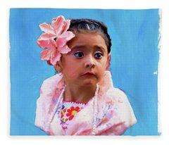 The Little Girl Fleece Blanket