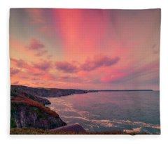 The Lizard Point Sunset Fleece Blanket
