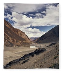 Fleece Blanket featuring the photograph The Long Journey by Whitney Goodey