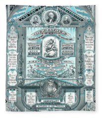 The Lords Prayer And The Ten Commandments Fleece Blanket