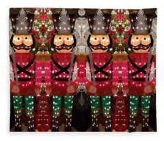 The March Of The Toy Soldiers Is On. Fleece Blanket