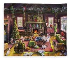 The Micey Christmas Heisty Fleece Blanket