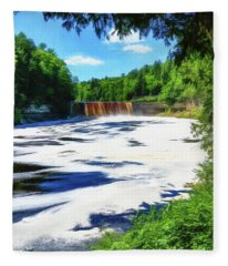 The Mighty Tahquamenon Fleece Blanket