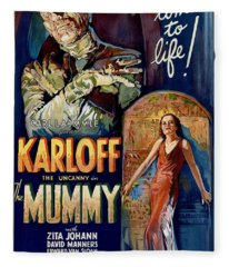 The Mummy 1932 Film Fleece Blanket