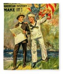 The Navy Needs You Fleece Blanket