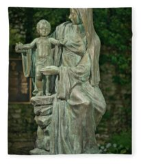 The Offering Statue Fleece Blanket