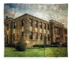 The Old County Courthouse Fleece Blanket