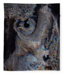 The Old Owl That Watches Fleece Blanket