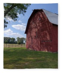 The Old Red Barn Fleece Blanket