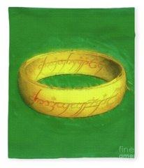 The One Ring Fleece Blanket