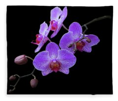 The Orchids Fleece Blanket