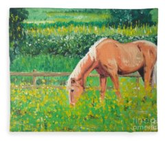 The Palomino And Buttercup Meadow Fleece Blanket