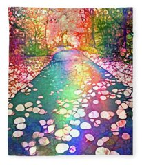 The Path Where Rainbows Meet Fleece Blanket