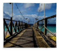 The Pier #3 Fleece Blanket