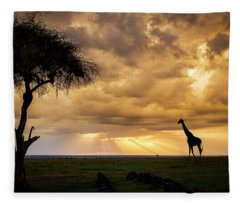 The Plains Of Africa Fleece Blanket