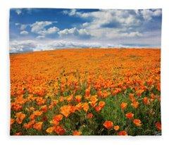 The Poppy Field Fleece Blanket