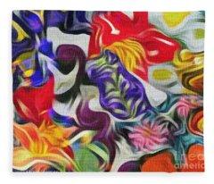 The Power Of Flowers Fleece Blanket
