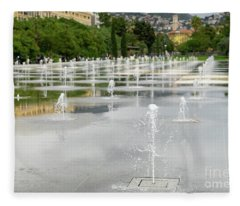 The Promenade Du Paillon Nice France Fleece Blanket