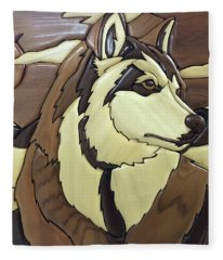 Fleece Blanket featuring the photograph The Proud Husky by Andrea Kollo