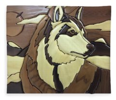 The Proud Husky Fleece Blanket