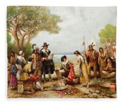 The Purchase Of Manhattan Fleece Blanket