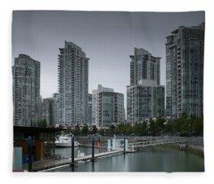 The Quayside Marina - Yaletown Apartments Vancouver Fleece Blanket