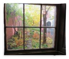 The Rainy Day By Longfellow Fleece Blanket