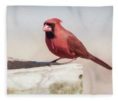 The Red Bird Fleece Blanket