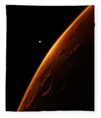 the red planet mars - Illustration  Fleece Blanket