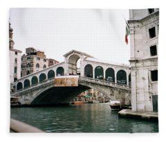The Rialto Bridge  Fleece Blanket