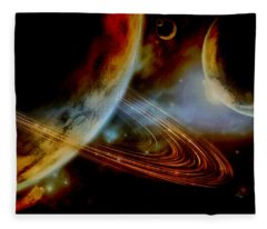 The Ringed World Of Asterion Fleece Blanket