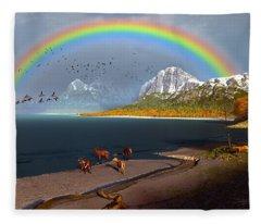 The Rings Of Eden Fleece Blanket