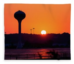 The Rise And The Fall Fleece Blanket