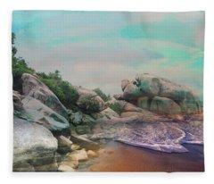 The Rising Tide Montage Fleece Blanket