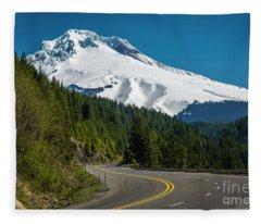 The Road To Mt. Hood Fleece Blanket