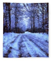The Road To Winter Fleece Blanket