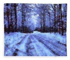 The Road To Winter Fleece Blanket