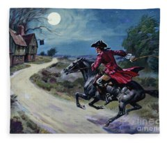 The Road Was A Ribbon Of Moonlight Of The Purple Moor, The Highwayman Came Riding Fleece Blanket
