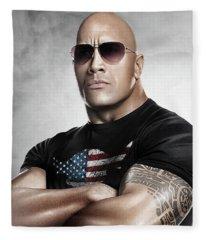 The Rock Dwayne Johnson I I Fleece Blanket