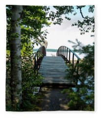 The Rock River Foot Bridge Fleece Blanket