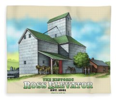 The Ross Elevator Fleece Blanket