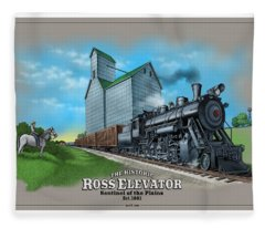 The Ross Elevator Sentinel Of The Plains Fleece Blanket