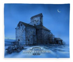 The Ross Elevator Version 3 Fleece Blanket