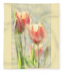 The Scent Of Tulips Fleece Blanket