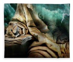 The Scribe And The Storm Fleece Blanket
