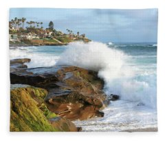 The Sea Was Angry That Day My Friends Fleece Blanket
